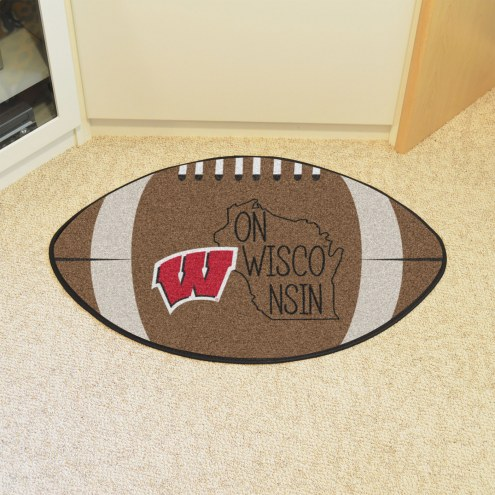 Wisconsin Badgers Southern Style Football Floor Mat
