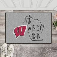 Wisconsin Badgers Southern Style Starter Rug