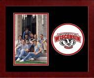 Wisconsin Badgers Spirit Vertical Photo Frame