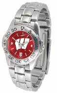 Wisconsin Badgers Sport Steel AnoChrome Women's Watch