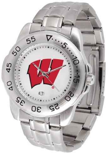 Wisconsin Badgers Sport Steel Men's Watch
