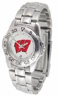 Wisconsin Badgers Sport Steel Women's Watch