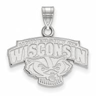 Wisconsin Badgers Sterling Silver Small Pendant