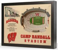 Wisconsin Badgers 25-Layer StadiumViews 3D Wall Art