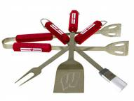 Wisconsin Badgers NCAA 4-Piece Stainless Steel BBQ Set