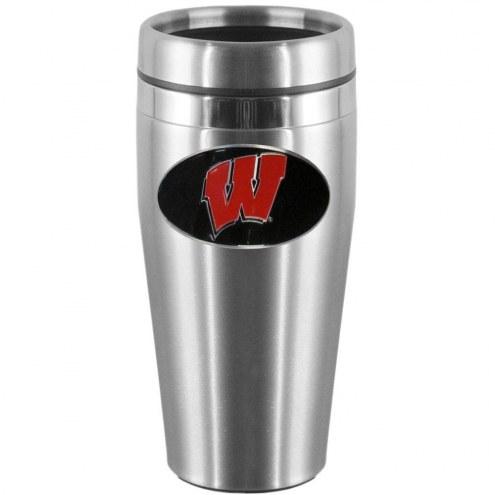 Wisconsin Badgers Steel Travel Mug