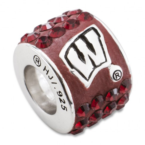 Wisconsin Badgers Sterling Silver Charm Bead