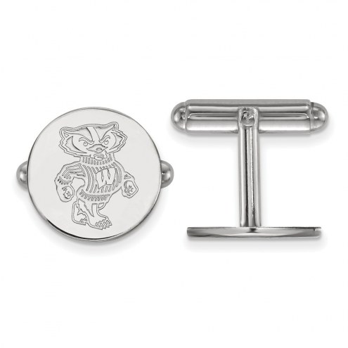 Wisconsin Badgers Sterling Silver Cuff Links