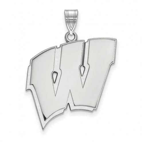 Wisconsin Badgers Sterling Silver Extra Large Pendant