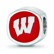 Wisconsin Badgers Sterling Silver Logo Bead