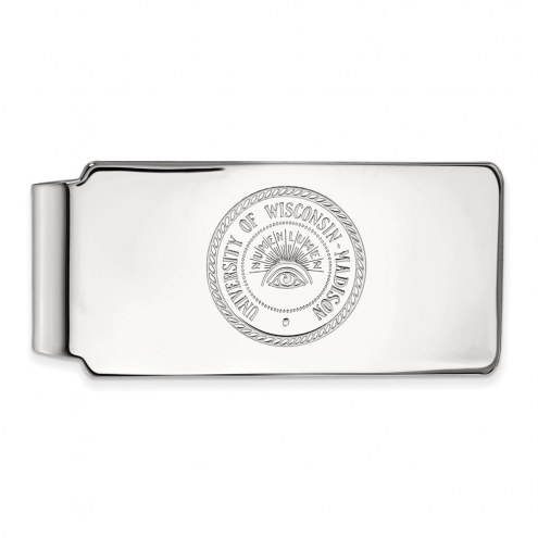 Wisconsin Badgers Sterling Silver Money Clip