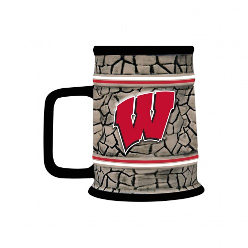 Wisconsin Badgers Stone Stein