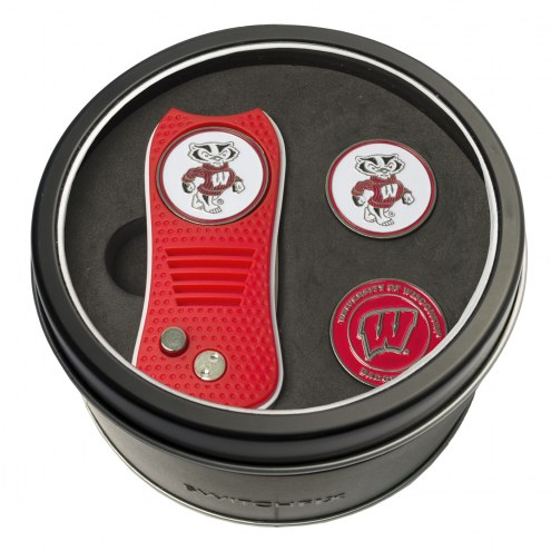 Wisconsin Badgers Switchfix Golf Divot Tool & Ball Markers
