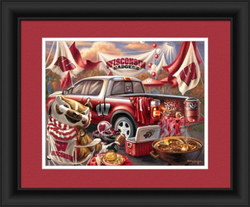 Wisconsin Badgers Tailgate Framed Print