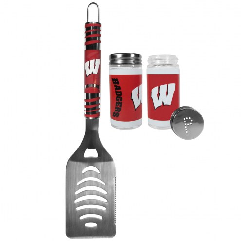 Wisconsin Badgers Tailgater Spatula & Salt and Pepper Shakers