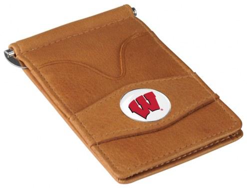 Wisconsin Badgers Tan Player's Wallet