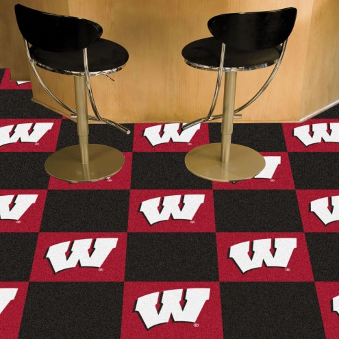 Wisconsin Badgers Team Carpet Tiles