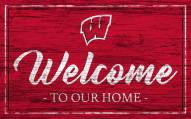 Wisconsin Badgers Team Color Welcome Sign