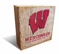 Wisconsin Badgers Team Logo Block