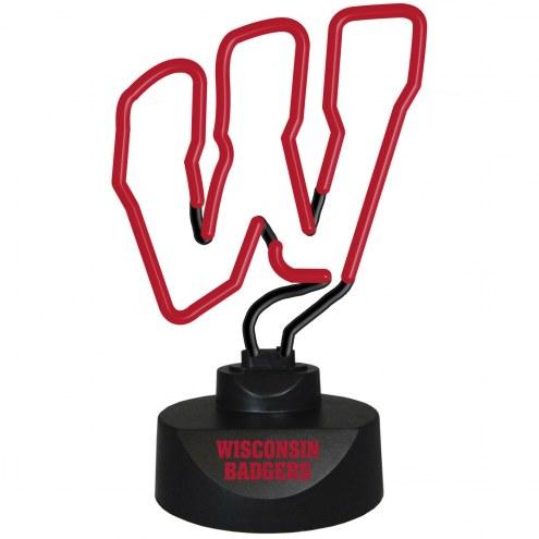 Wisconsin Badgers Team Logo Neon Lamp
