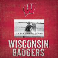 """Wisconsin Badgers Team Name 10"""" x 10"""" Picture Frame"""