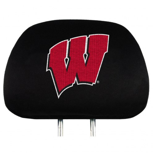 Wisconsin Badgers Car Headrest Covers
