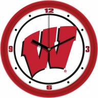 Wisconsin Badgers Traditional Wall Clock