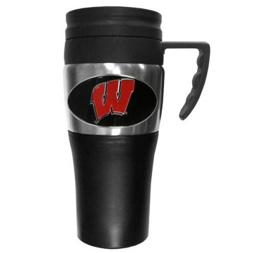 Wisconsin Badgers Travel Mug w/Handle