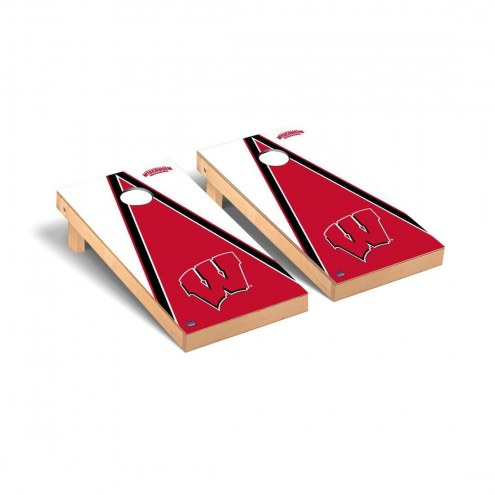 Wisconsin Badgers Triangle Cornhole Game Set