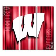 Wisconsin Badgers Triptych Rush Canvas Wall Art