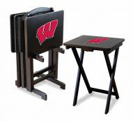 Wisconsin Badgers TV Trays - Set of 4