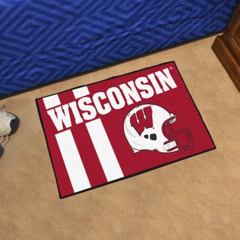 Wisconsin Badgers Uniform Inspired Starter Rug