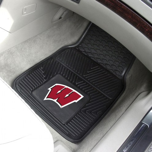 Wisconsin Badgers Vinyl 2-Piece Car Floor Mats