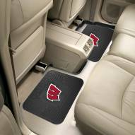 Wisconsin Badgers Vinyl 2-Piece Rear Floor Mats