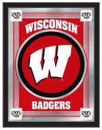 Wisconsin Badgers W Logo Mirror