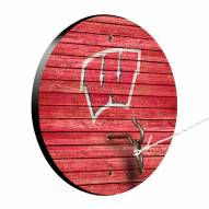 Wisconsin Badgers Weathered Design Hook & Ring Game