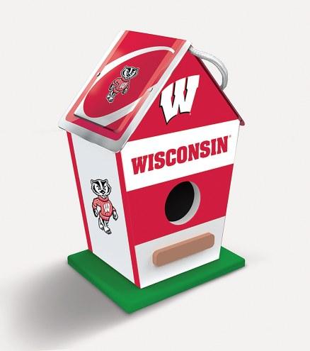 Wisconsin Badgers Wood Birdhouse