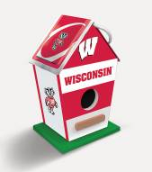 Wisconsin Badgers Wood Birdhouse