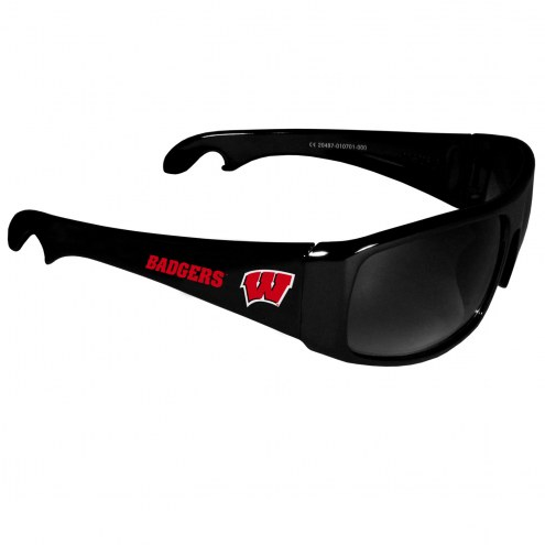 Wisconsin Badgers Wrap Bottle Opener Sunglasses