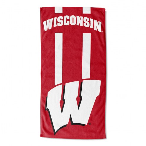 Wisconsin Badgers Zone Read Beach Towel