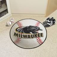 Wisconsin Milwaukee Panthers Baseball Rug