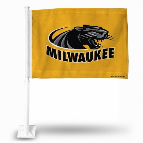 Wisconsin Milwaukee Panthers College Car Flag