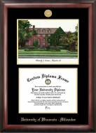 Wisconsin Milwaukee Panthers Gold Embossed Diploma Frame with Campus Images Lithograph