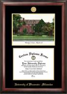 Wisconsin Milwaukee Panthers Gold Embossed Diploma Frame with Lithograph