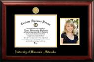 Wisconsin Milwaukee Panthers Gold Embossed Diploma Frame with Portrait
