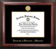 Wisconsin Milwaukee Panthers Gold Embossed Diploma Frame