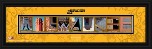Wisconsin Milwaukee Panthers Personalized Campus Letter Art