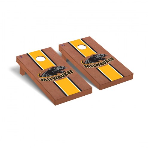 Wisconsin Milwaukee Panthers Rosewood Stained Cornhole Game Set