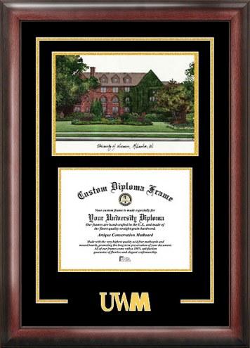 Wisconsin Milwaukee Panthers Spirit Diploma Frame with Campus Image