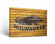 Wisconsin Milwaukee Panthers Weathered Canvas Wall Art